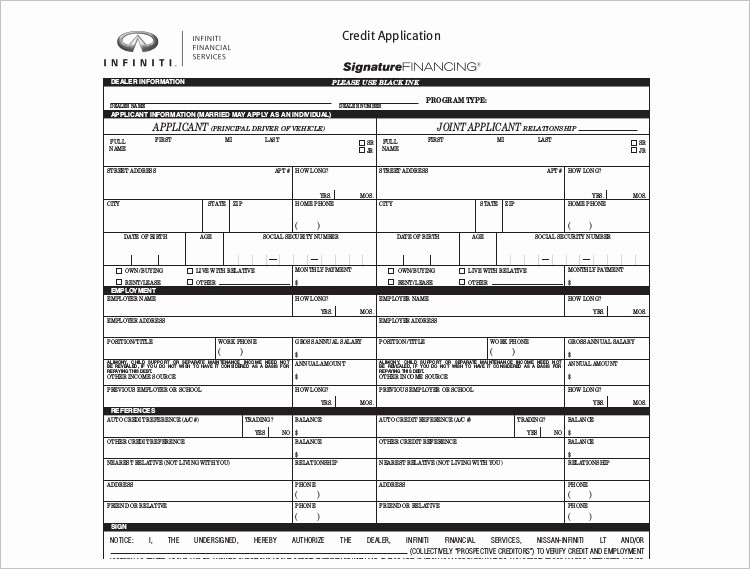 Auto Credit Application form Template Inspirational Index Of Cdn 18 1992 471