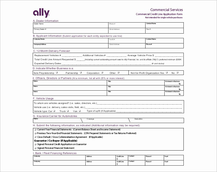 Auto Credit Application form Template Unique 24 Credit Application form Templates Free Word Pdf formats