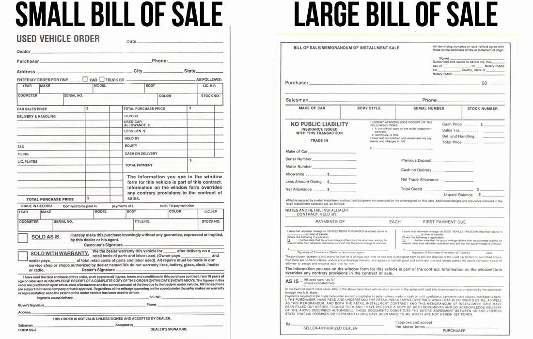 Auto Dealer Bill Of Sale Best Of Bill Of Sale