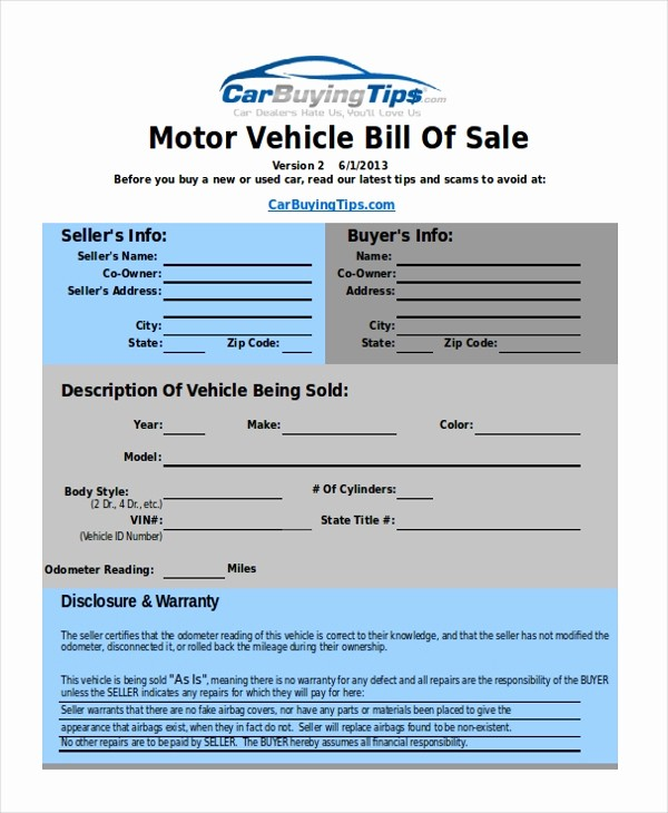 Auto Dealer Bill Of Sale Elegant Sample Bill Of Sale Examples 10 Free Documents In Excel