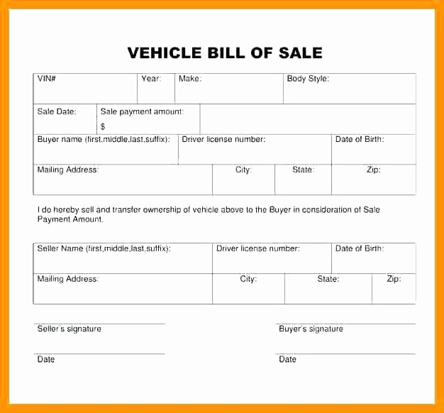 Automobile Bill Of Sale Georgia Best Of 15 Georgia Vehicle Bill Of Sale