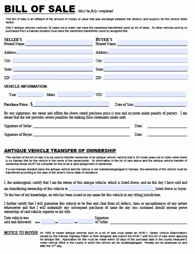 Automobile Bill Of Sale Illinois Fresh Illinois Vehicle Bill Le Template Idaho Gun Free Boat