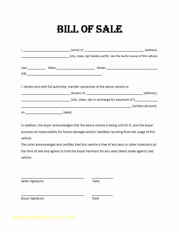 Automobile Bill Of Sale Ma Inspirational Bill Sale Template Motor Vehicle Free Auto Download