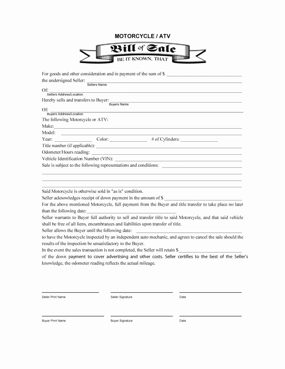 Automobile Bill Of Sale Ma Lovely Bill Sale Free Template Trailer Automobile Motor