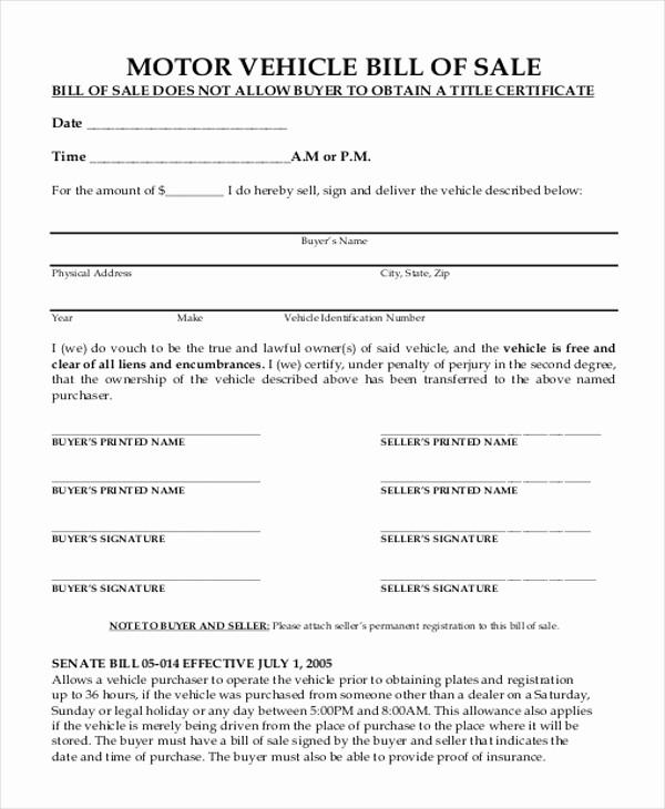 Automobile Bill Of Sale Nc Lovely Connecticut Dmv Bill Of Sale