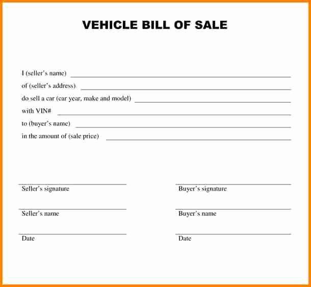 Automobile Vehicle Bill Of Sale Lovely 5 Bill Of Sale Alabama Car