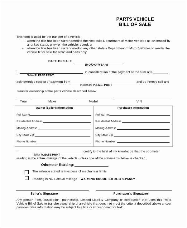 Automotive Bill Of Sale California Best Of 9 Free Printable Bill Of Sale Samples