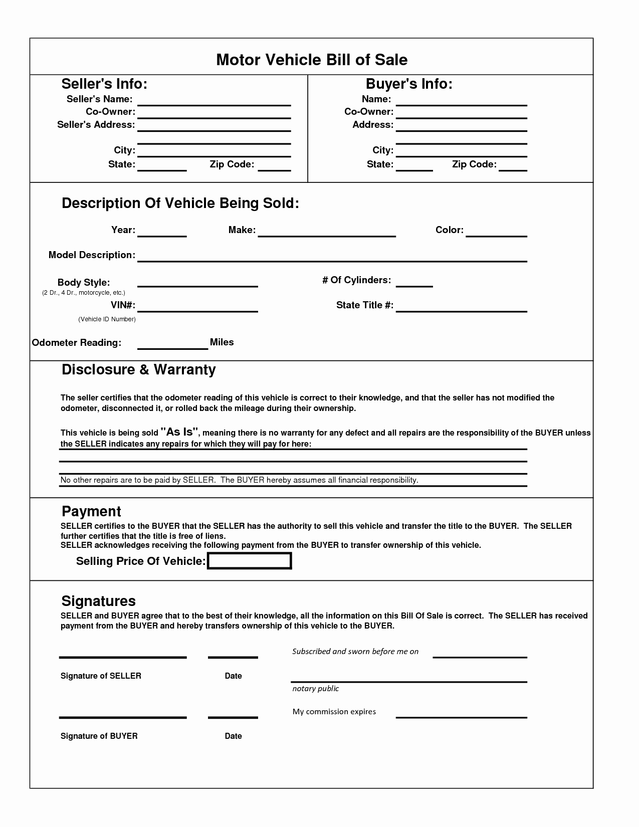 Automotive Bill Of Sale Colorado Best Of Colorado Motor Vehicle forms Impremedia