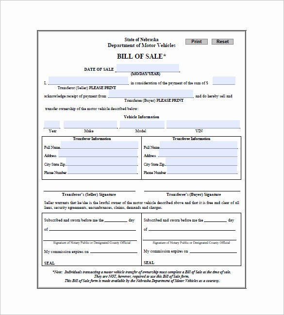 Automotive Bill Of Sale Sample New Car Bill Of Sale – 10 Free Sample Example format