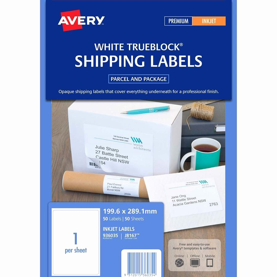 Avery 10 Per Page Labels Awesome Avery Inkjet Labels J8167 1 Sheet