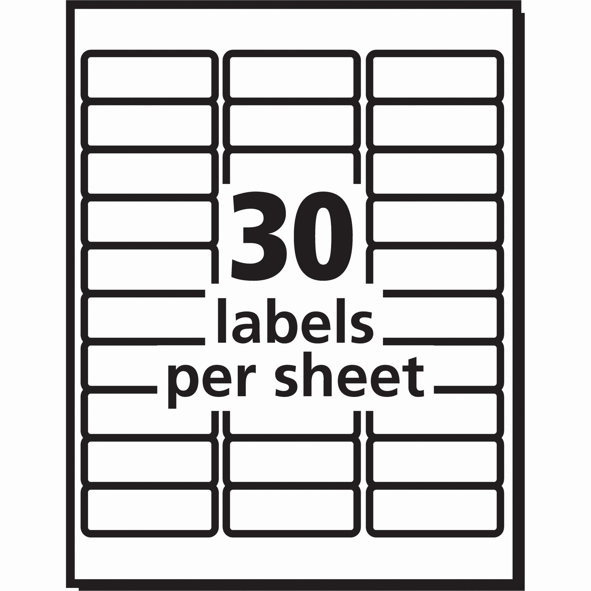 Avery 10 Per Page Labels Beautiful Label Template 40 Per Sheet