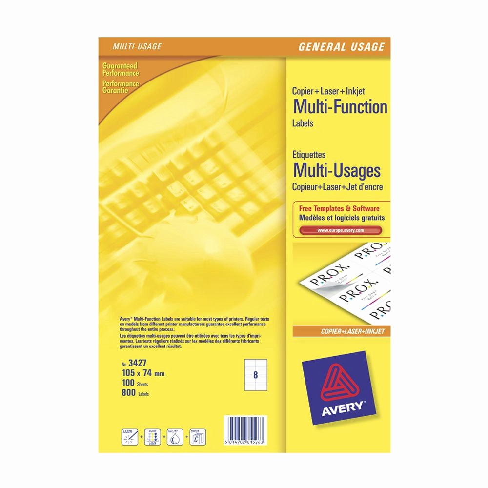 Avery 10 Per Page Labels Fresh Avery Multi Function Labels 8 Labels Per Sheet 105 X