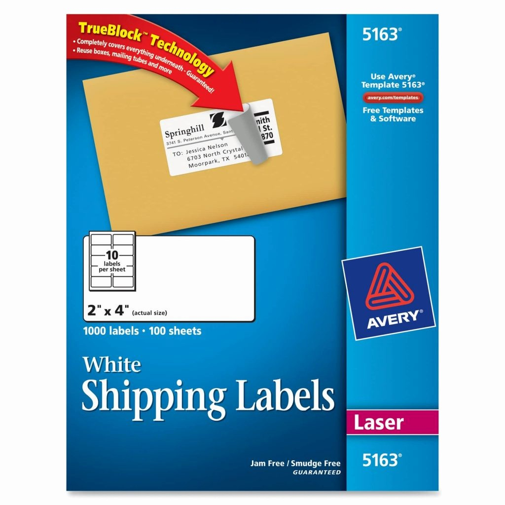 Avery 10 Per Page Labels New Label Template 4 Per Sheet