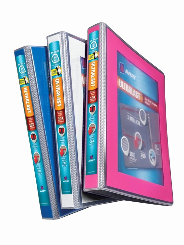 Avery 2 Binder Spine Template Elegant Amazon Avery Ultralast Binder with 1 Inch E touch