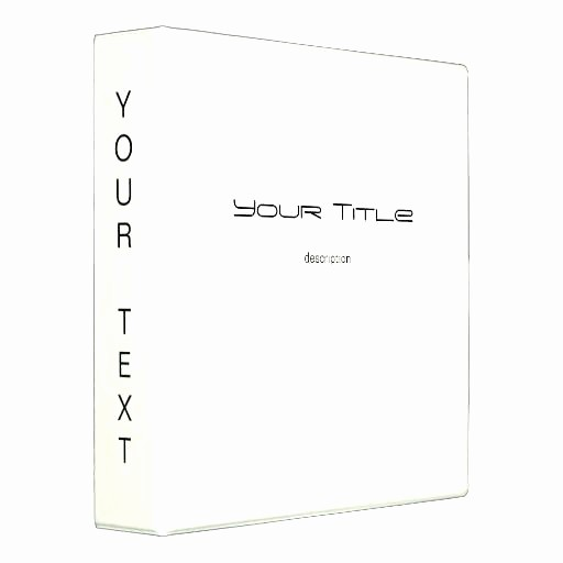 Avery 2 Binder Spine Template New Binder Cover and Spine Templates Free 4 Inch Template