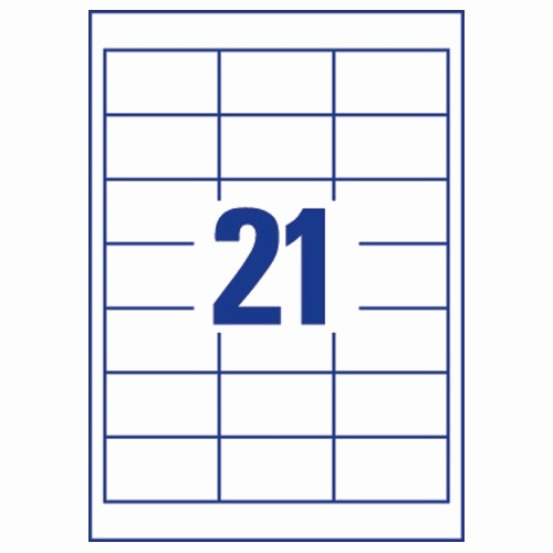 Avery 2 Labels Per Sheet Awesome Avery L7160 40 Address Labels Laser 21 Per Sheet 63 5x38