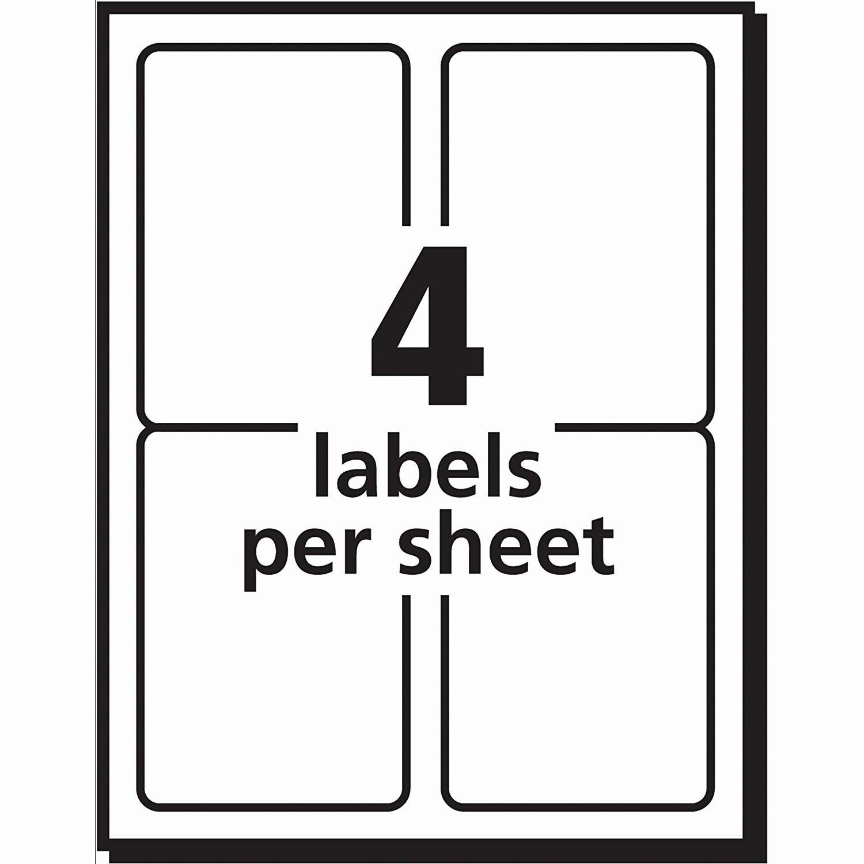 Avery 2 Labels Per Sheet Best Of Label Template 4 Per Sheet