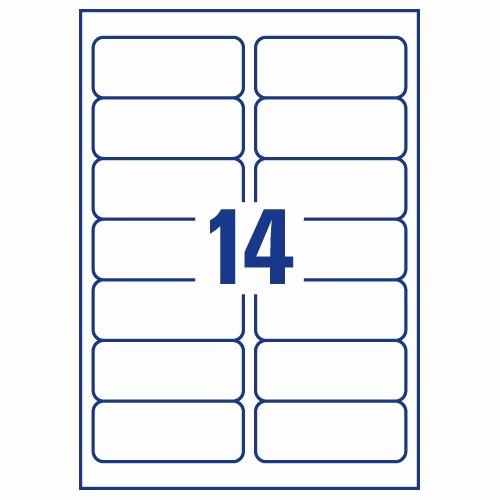 Avery 2 Labels Per Sheet Elegant Avery J8563 25 Clear Address Labels 14 Per Sheet 99 1x38