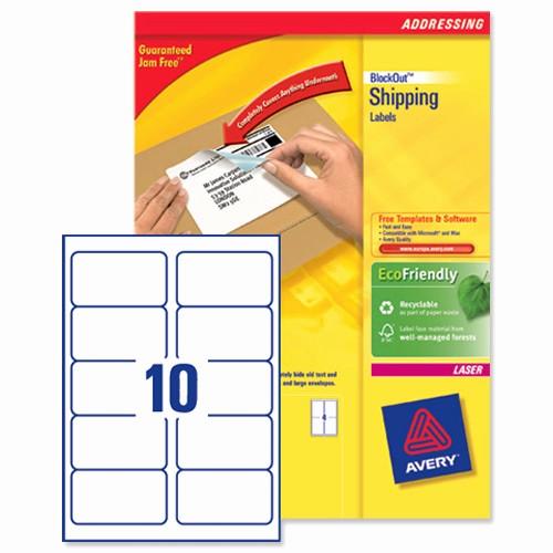 Avery 2 Labels Per Sheet Fresh Avery L7173b Blockout Shipping Labels 10 Per Sheet 99