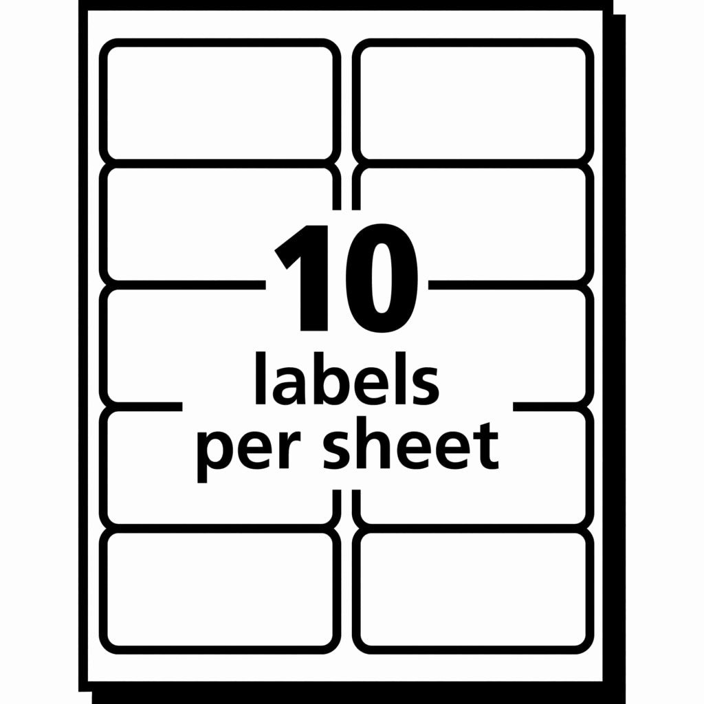 Avery 2 Labels Per Sheet New Avery Labels 10 Per Sheet Template Invoice