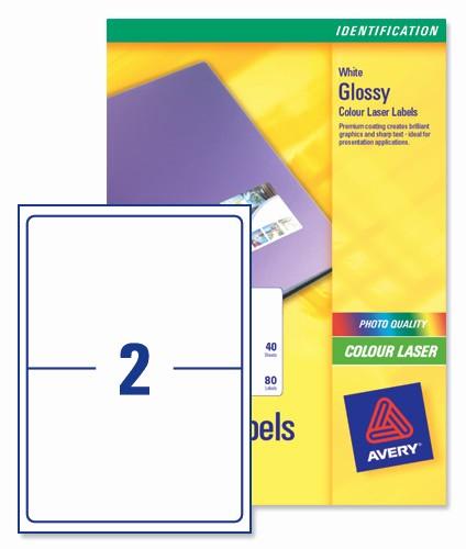 Avery 2 Labels Per Sheet Unique Avery L7768 Colour Laser Labels 199 6x143 5mm 2 Per Page