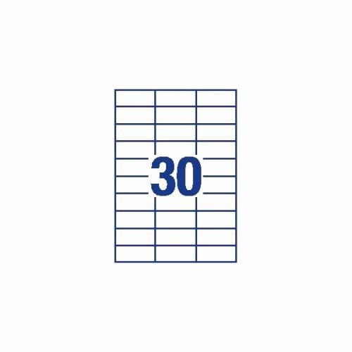 Avery 30 Per Sheet Labels Beautiful Avery 70x30mm Copier Labels White 30 Per Sheet 3000