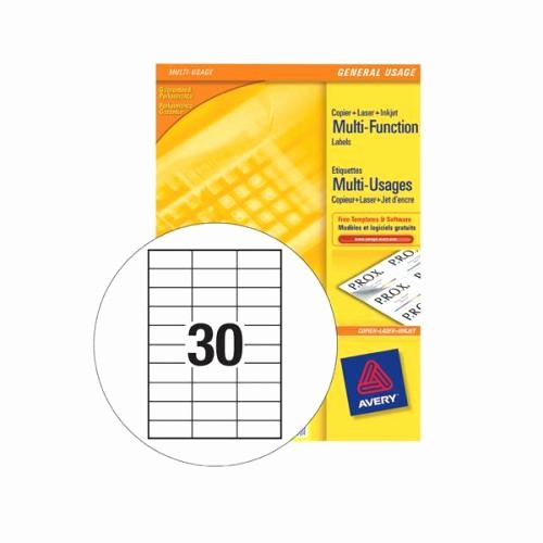 Avery 30 Per Sheet Labels Best Of Avery Labels 30 Per Sheet Template Free