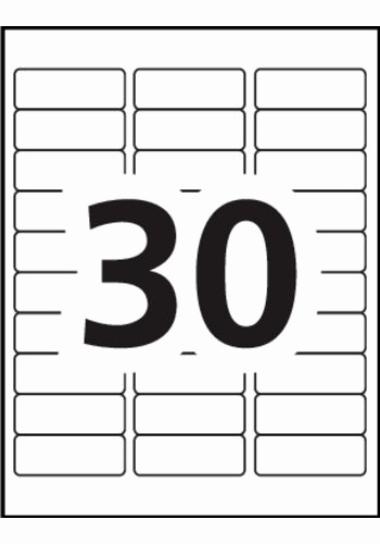 Avery 30 Per Sheet Labels Best Of Avery Removable organization Labels 6476 Template