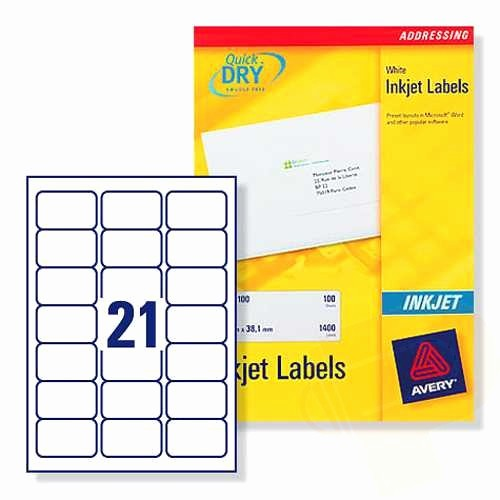Avery 30 Per Sheet Labels Elegant J8160 Avery Inkjet Labels 21 Per Sheet 100 Sheets