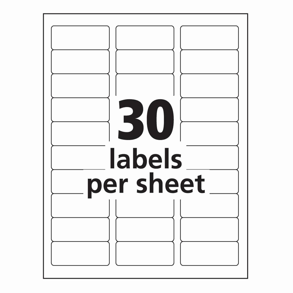 Avery 30 Per Sheet Labels Inspirational Word Template for Labels 30 Per Sheet Made by Creative Label