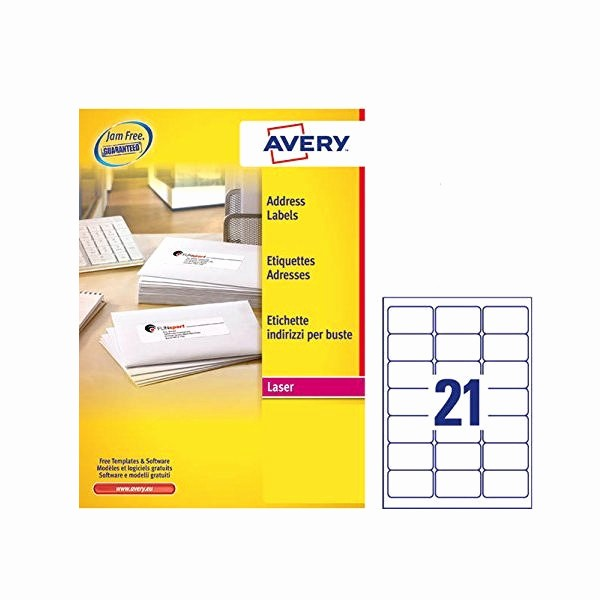 Avery 30 Per Sheet Labels New Avery Address Laser Labels 21 Labels Per Sheet 100