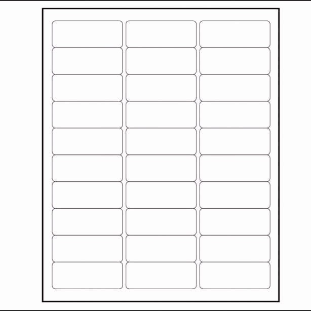 Avery 30 Per Sheet Labels New Avery Labels Per Sheet Template Label Template Contegri