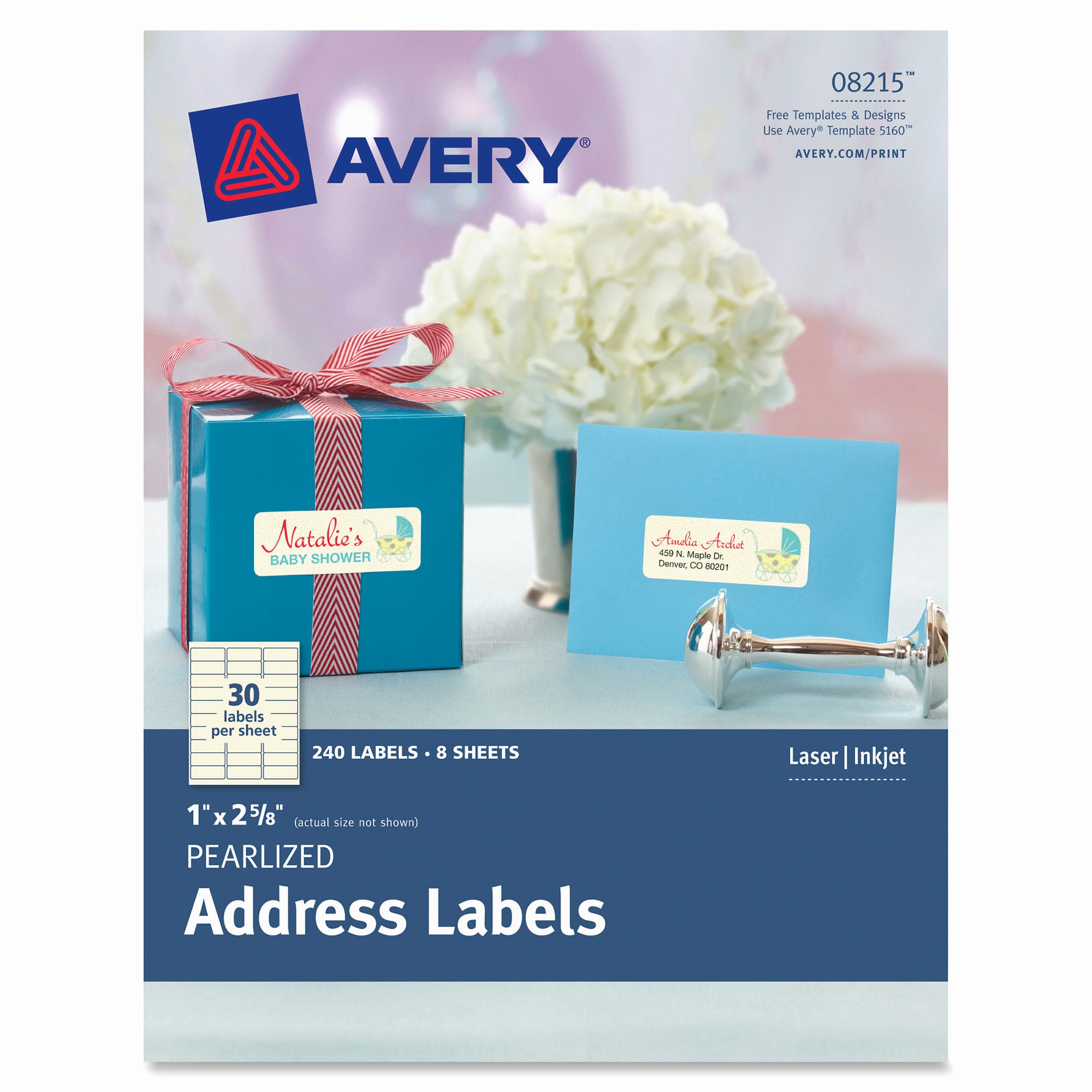 Avery 30 Per Sheet Labels Unique Avery 8215 Pearlized Address Labels 240 Pack Permanent