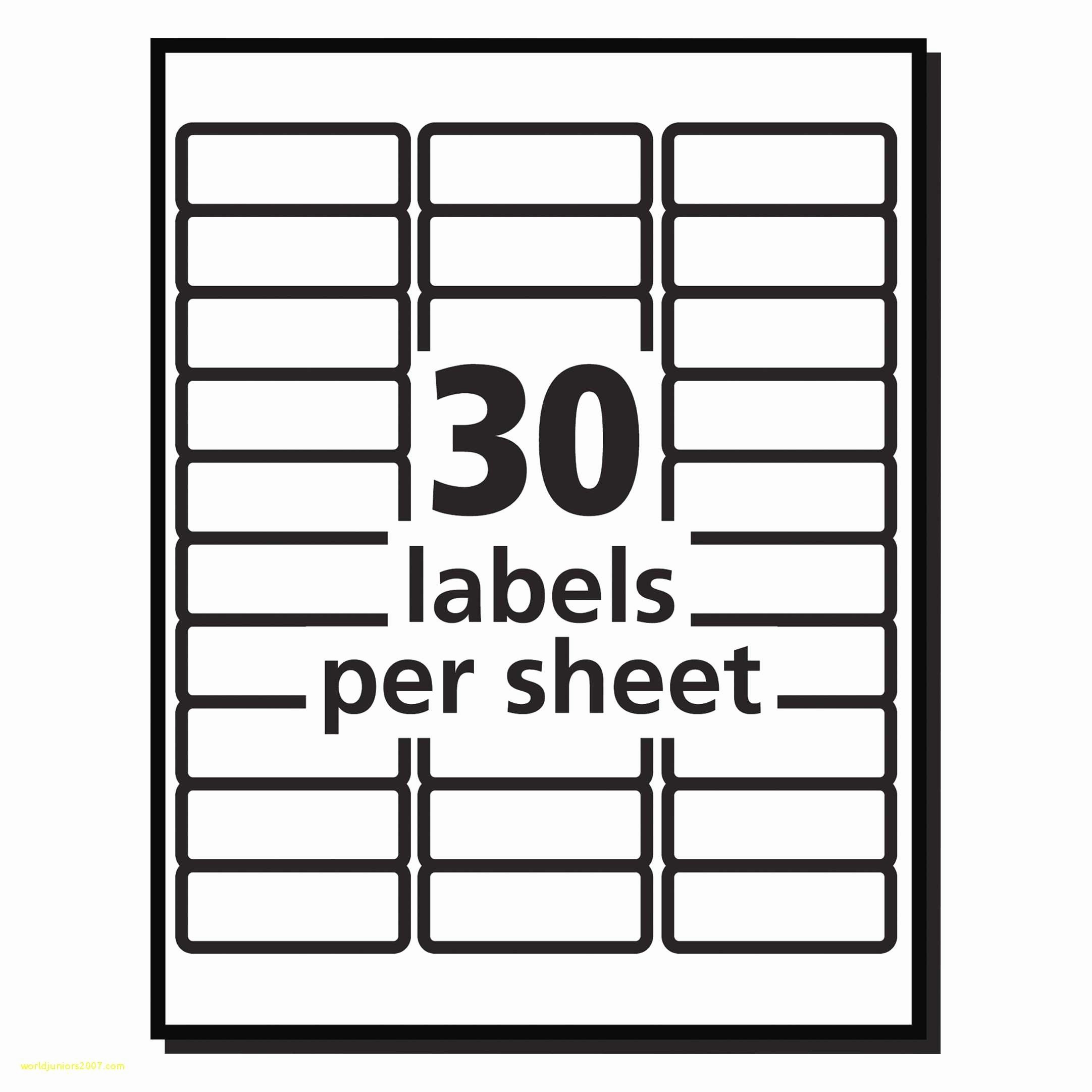 Avery 30 Up Label Template Unique Fresh Avery 30 Label Sheet Template