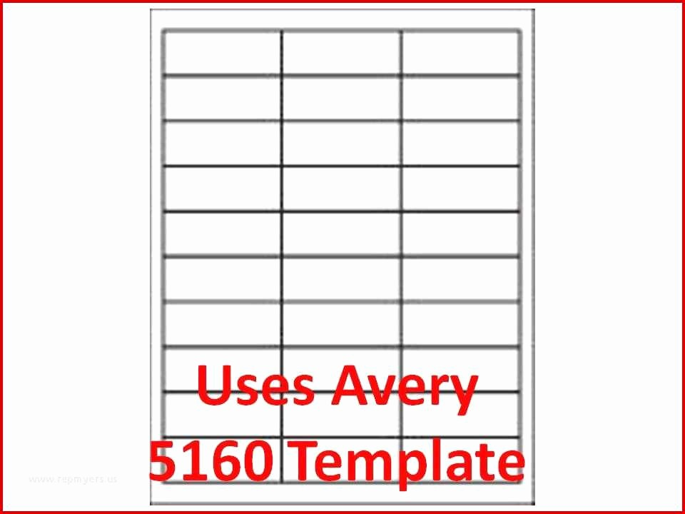 Avery 30 Up Labels Template Best Of Avery Label Template 5160 Un Plicated 3000 Laser Ink Jet
