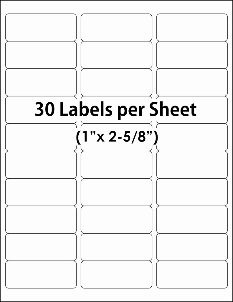 Avery 30 Up Labels Template Elegant Avery 30 Up