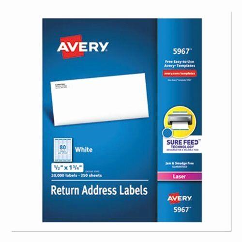 Avery 4 Labels Per Page Beautiful Avery Return Address Labels 1 2 X 1 3 4 White Box