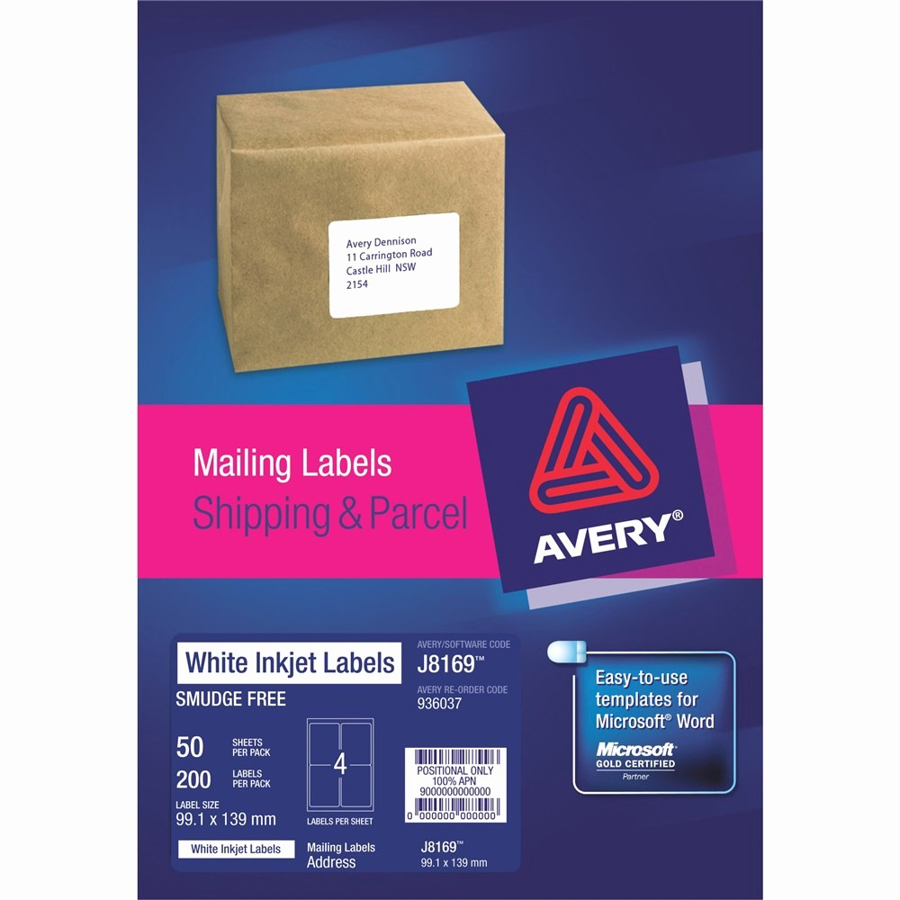 Avery 4 Labels Per Page Best Of Product Browse