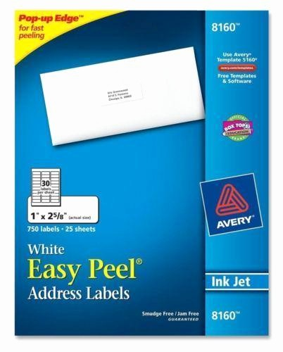 Avery 4 Labels Per Page Elegant Avery 8160 Labels