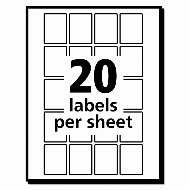 Avery 4 Labels Per Page Fresh Avery Labels 4 Per Sheet Landscape 4 Per Page Label