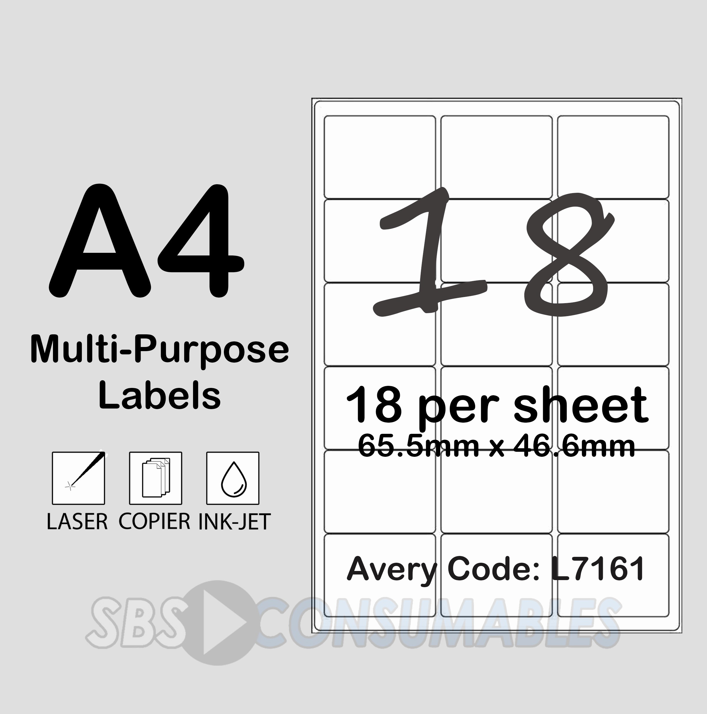 Avery 4 Labels Per Page Fresh Printable White Sticky Address Labels