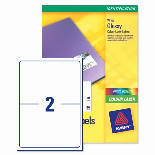 Avery 4 Labels Per Page New Avery L7768 Colour Laser Labels 199 6x143 5mm 2 Per Page