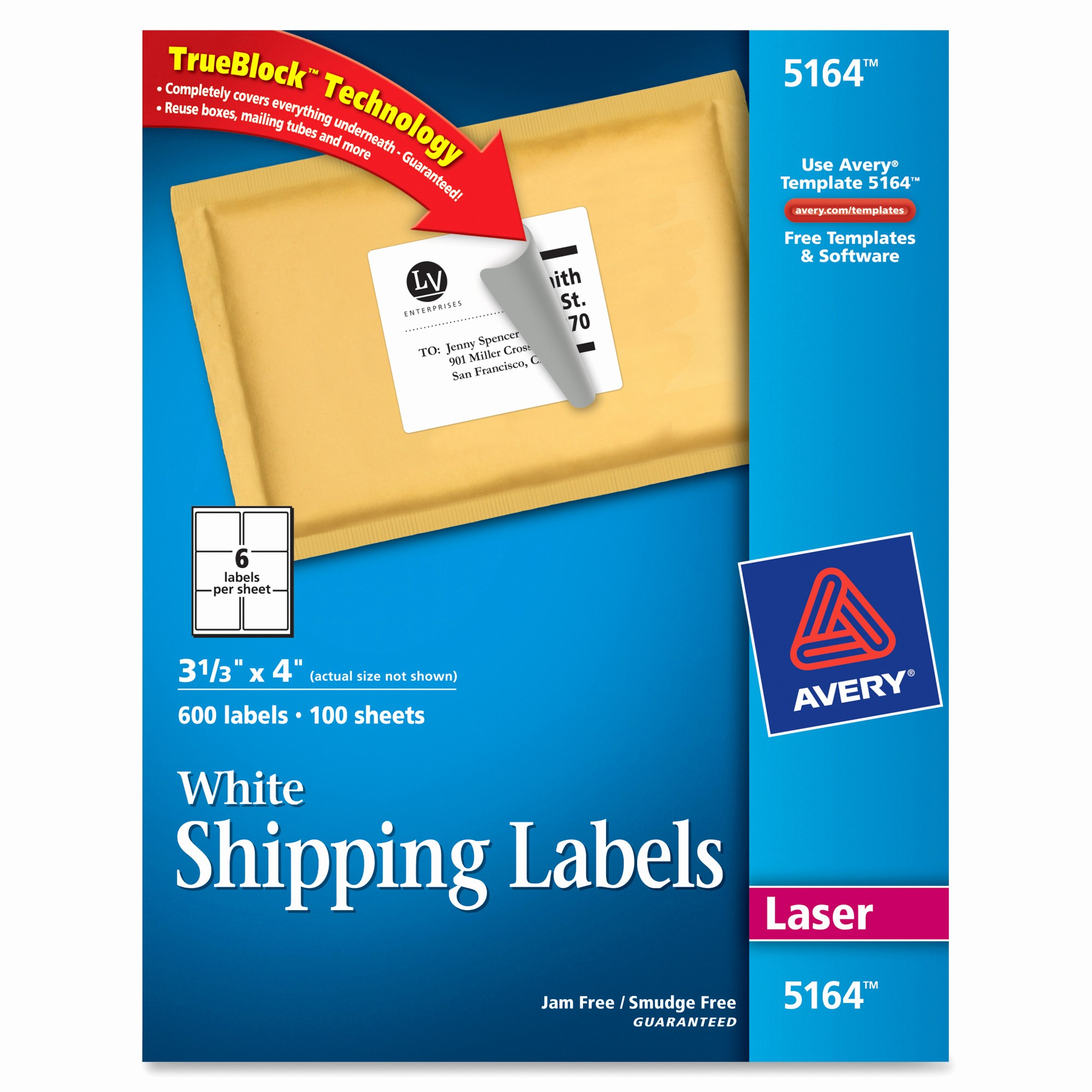 Avery 4 Labels Per Page Unique Avery 5164 Easy Peel White Shipping Labels Permanent