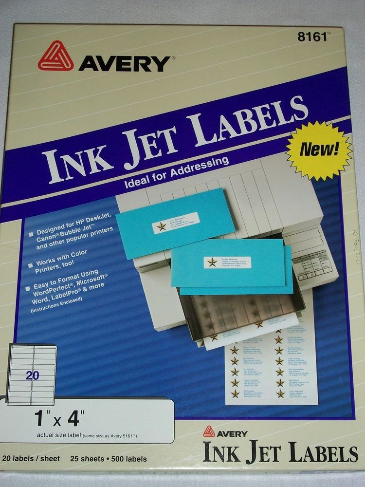Avery 4 Labels Per Page Unique Avery 8161 Ink Jet Address Labels 25 Sheets 500 Labels 1