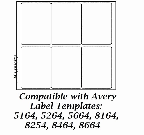 Avery 5164 Shipping Label Template Best Of 60 3 5 X 4 Labels 10 Sheets Shipping Labels by