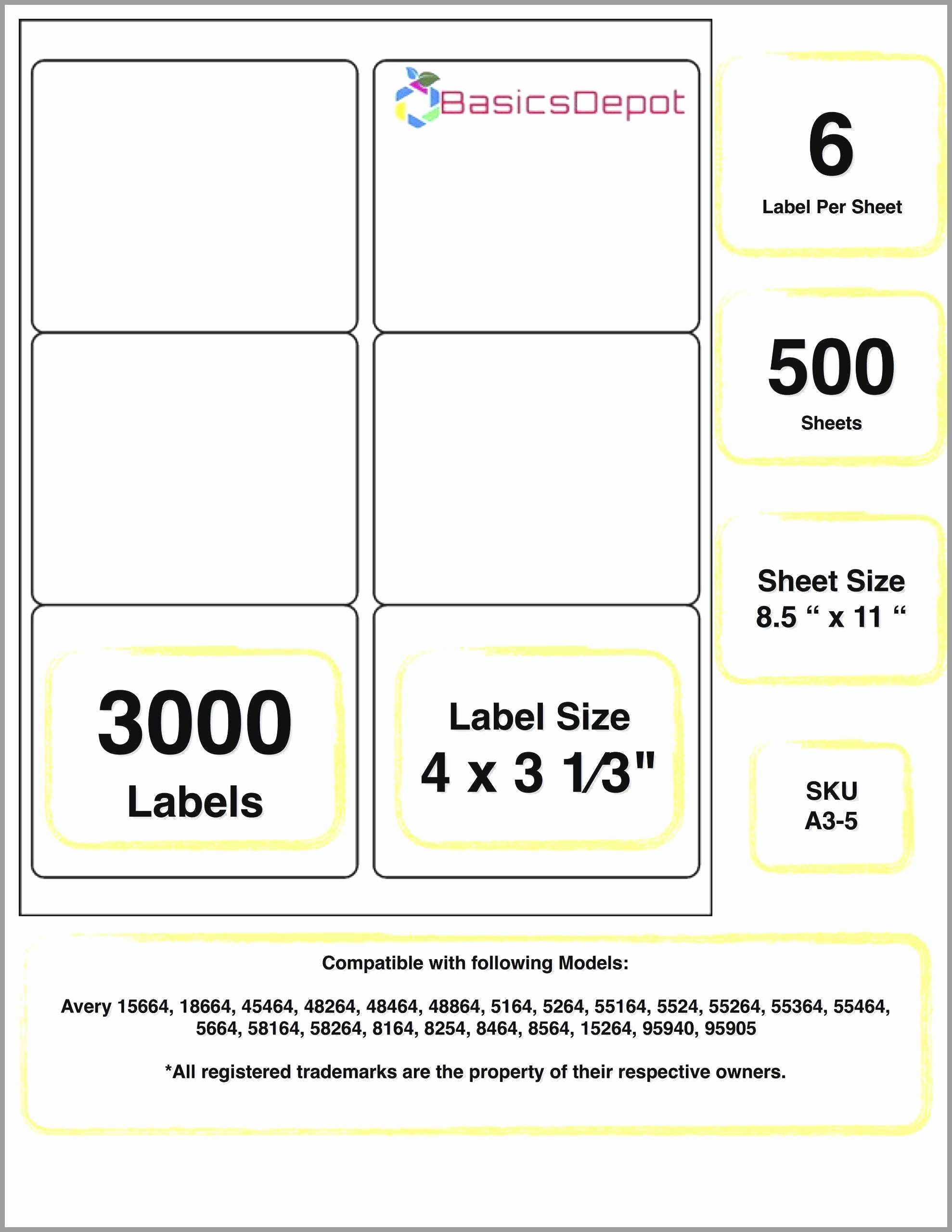 Avery 5164 Shipping Label Template Elegant Avery 6873 Template Lovely 96 Template for Avery 5164