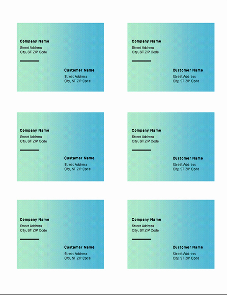 Avery 5164 Shipping Label Template Inspirational Shipping Labels Green Gra Nt Design 6 Per Page Works