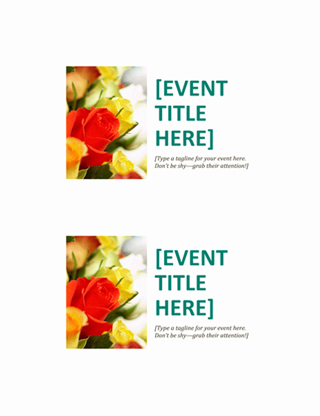Avery 5389 Template for Word Lovely event Postcards