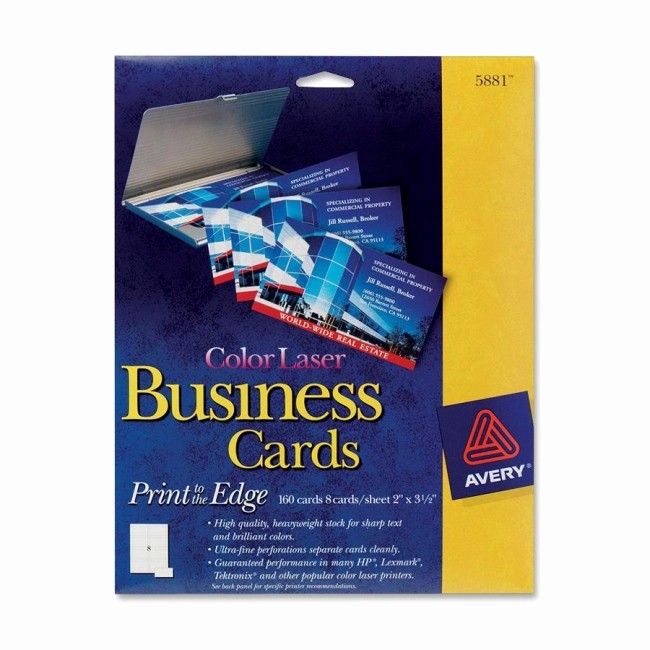 """Avery 5389 Template for Word Luxury Avery 5881 Perforated Business Card 2"""" X 3 50"""""""