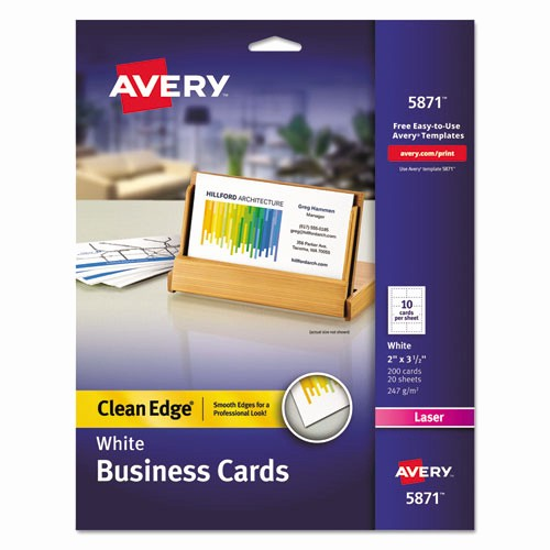 Avery 5871 Business Cards Template Inspirational Bettymills Avery 2 Side Printable Clean Edge Business
